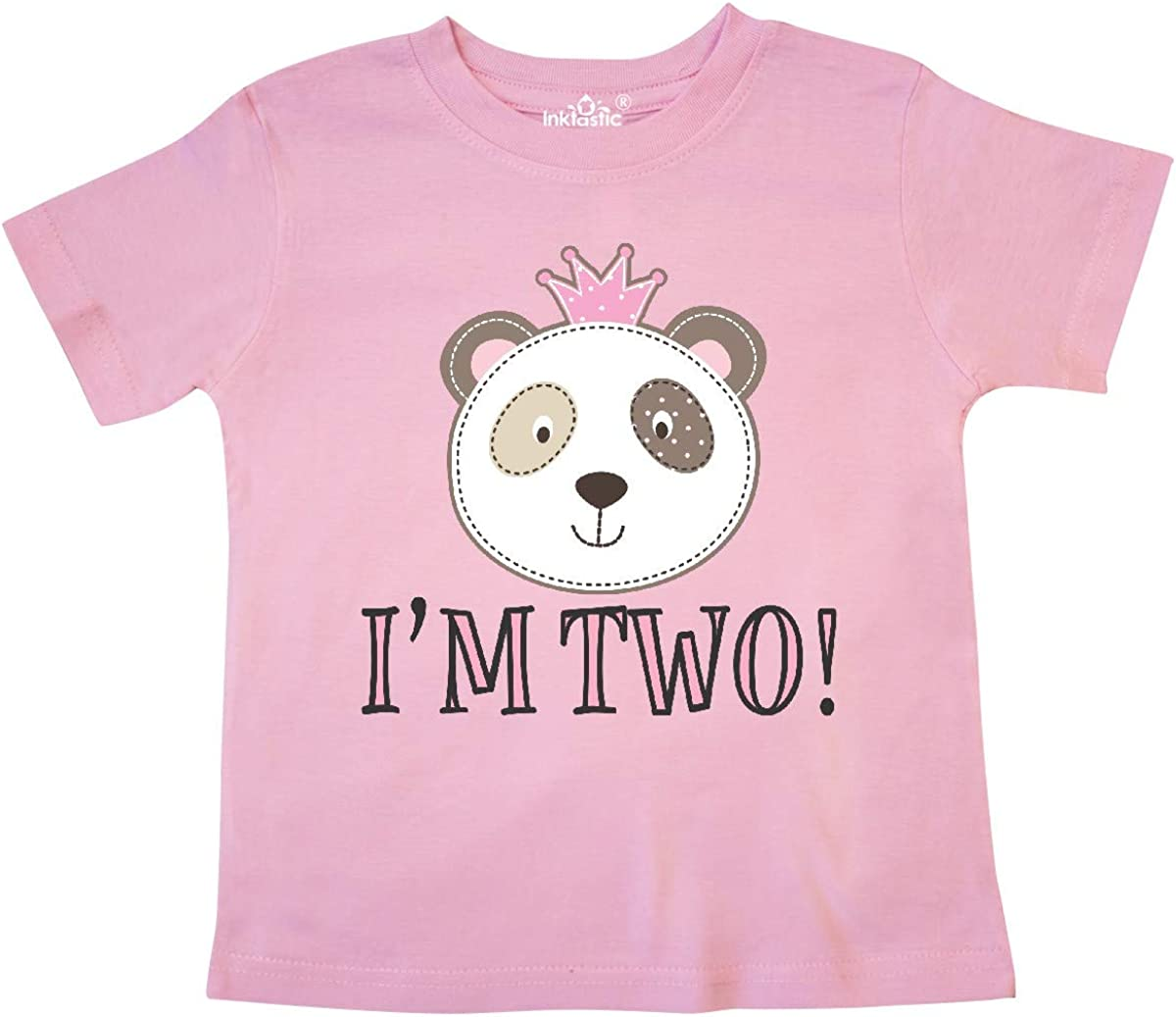 inktastic 2nd Birthday Panda 2 Year Old Girl Toddler T-Shirt