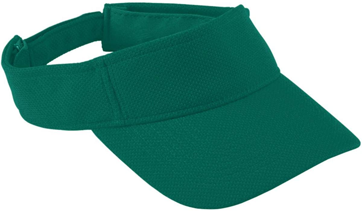 Adult Adjustable Wicking Mesh Visor Green