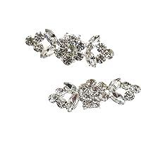 20x Nose Stud Ring Hook Twist Bar Rhinestone Surgical Steel Piercing Jewellery