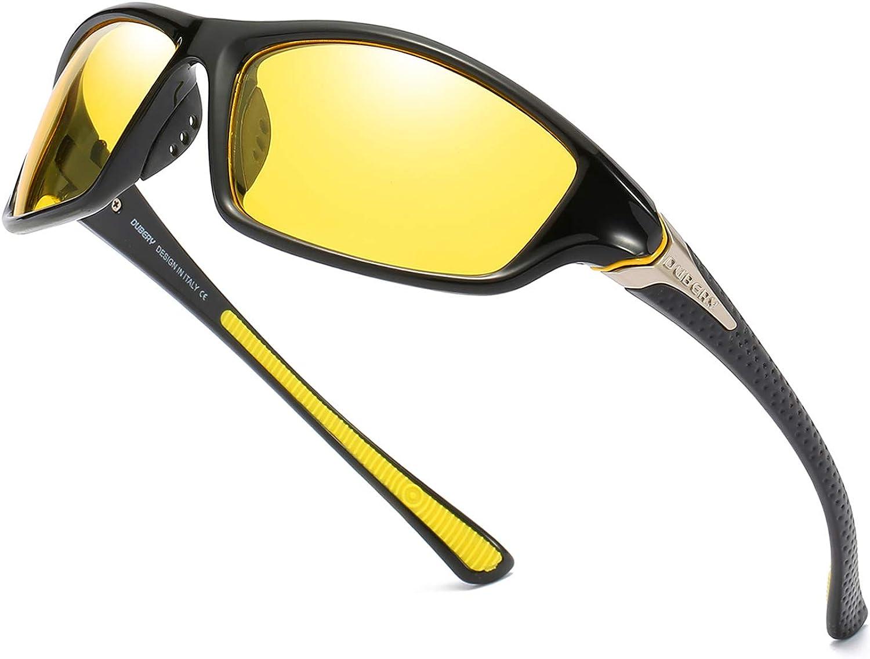 DUBERY Men's Sports Polarized Sunglasses UV Protection Driving Cycling Baseball Fishing Shades D120