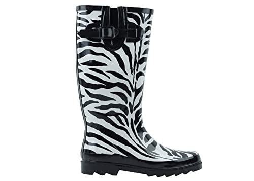 002a762881a4 Own Shoe Boots Rain Rubber Women Flat Wellies Snow Rainboots All Styles Mid  Calf Size New