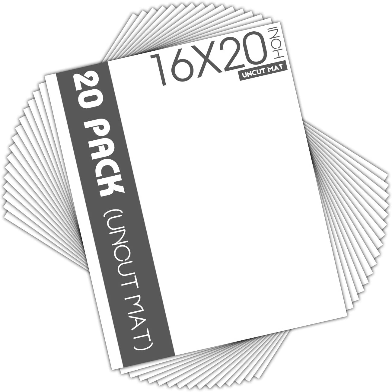 Prints 5x7 20 Pack Mat Board Center Photos for Art Prints and More White Uncut Mat Full Sheet