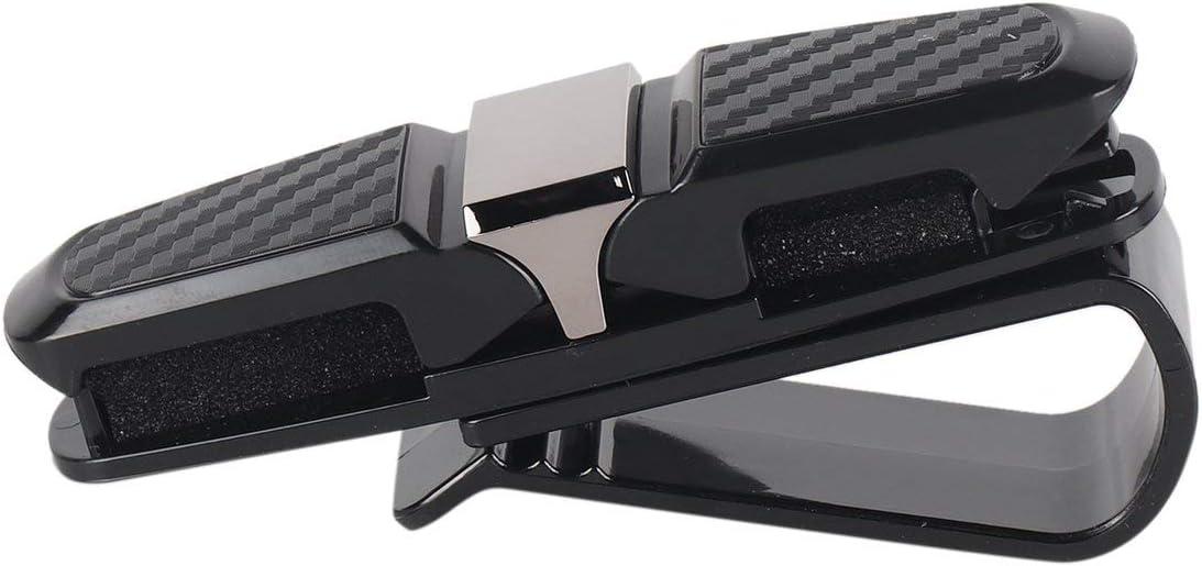 Drehbare ABS Auto Fahrzeug Sonnenblende Sonnenbrille Brille Brillenhalter Karte Ticket Pen Clip Autozubeh/ör schwarz DEjasnyfall