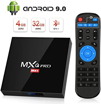Android 9.0 TV Box [4GB RAM+32GB ROM], Superpow Android Box TV 4K, USB 3.0, BT 4.1, UHD H.265, HDMI, Smart TV Box Quad Core WiFi Media Player, Box TV Android: Amazon.es: Electrónica