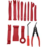 Trim Removal Tool Set, 13pcs Seal Trim Removal Pry Bar Panel Door Interior Clip Remover Installer Pry Tool With Pliers…