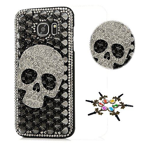 STENES Galaxy S9 Plus Case - STYLISH - 100+ Bling - 3D Handmade Punk Big Skull Design Bling Cover Case for Samsung Galaxy S9 Plus - (Skull Hard Case)