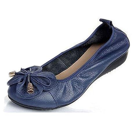 f8d7a4790cafa Amazon.com: York Zhu Women Ballet Flats, Flower Slip on Round Toe ...