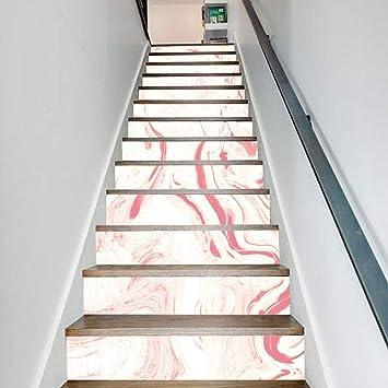Pegatinas de escalera de PVC 3D, 13 unidades, juego de mármol escalera, pegatinas de pared, escalera extraíbles, pegatinas de escalera para decoración del hogar: Amazon.es: Bricolaje y herramientas