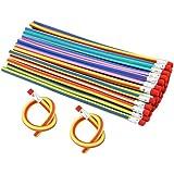 JTDEAL 30 Stück Biegebleistift, Bleistifte flexibel, Mitgebsel und Spielzeug für Kid Party DIY Kindergeburtstag Geschenk