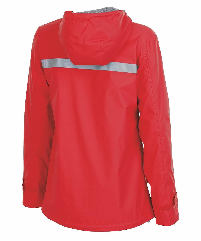 feed4b899f2 Amazon.com  Personalized Charles River Apparel Monogrammed Women s New  Englander Rain Jacket  Clothing