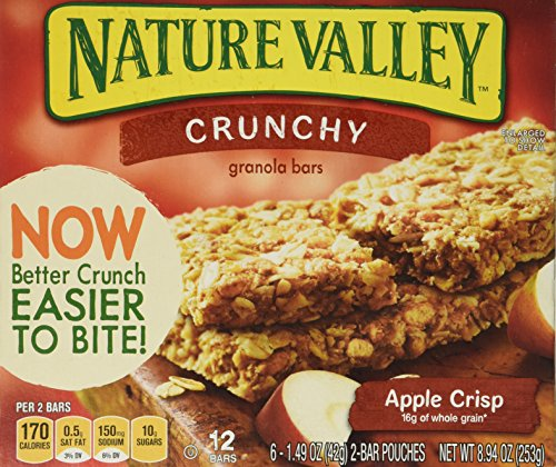 Nature Valley Crunchy Granola Bars - Apple Crisp - 8.9 oz - 12 Count - 6 Pack - Apple Almond Crisp