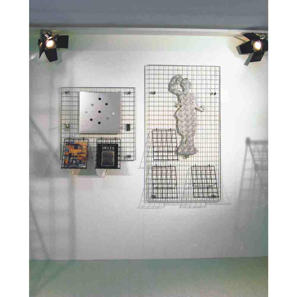 Gitter Präsentationsständer in Eisen mm. 400 x 2000 mit Rahmen Draht ...