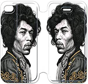 Leather Smart Cover With Flip Stand Phone Case iphone 4 4s-Jimi Hendrix-29
