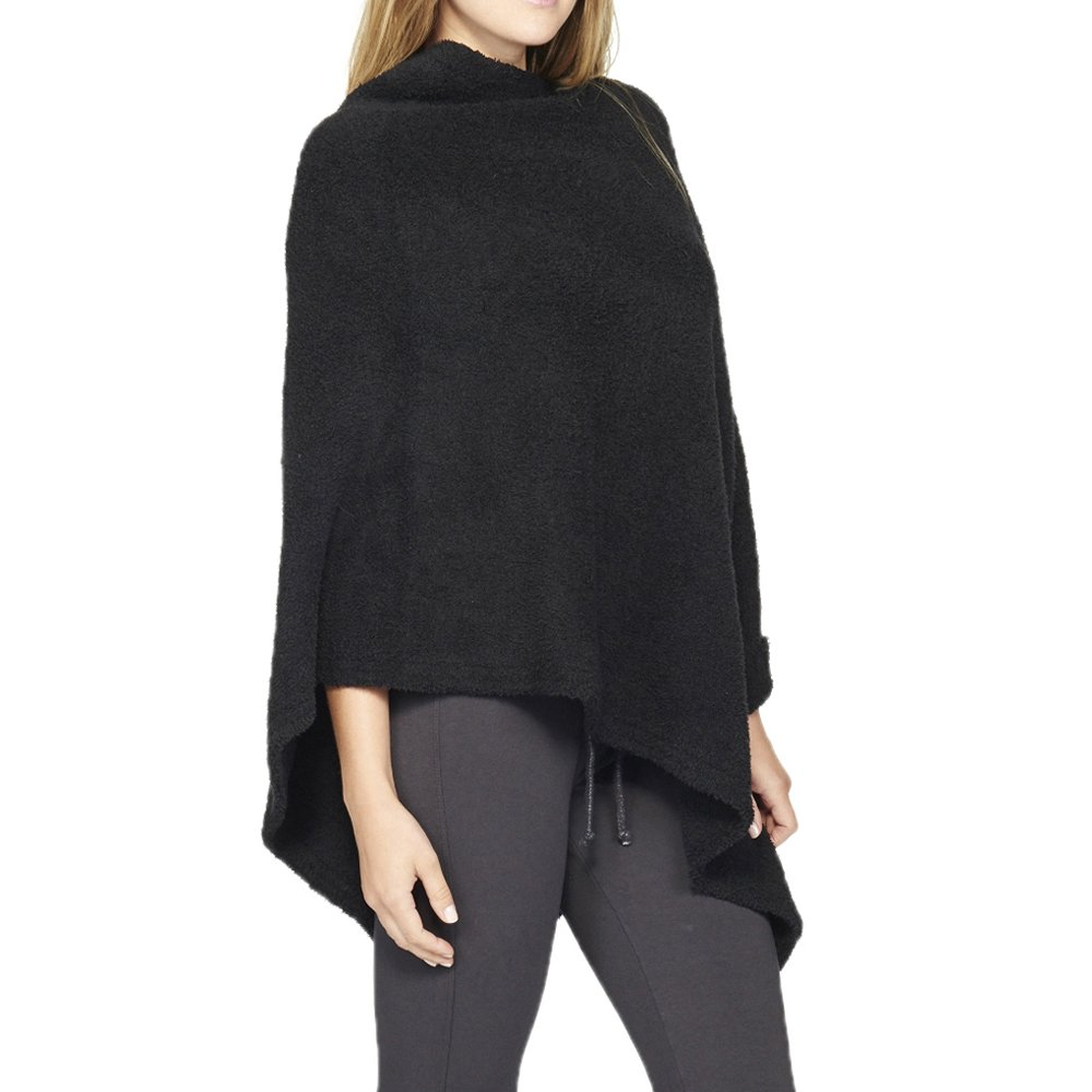 BAREFOOT DREAMS COZYCHIC BOATNECK PONCHO (MIDNIGHT)