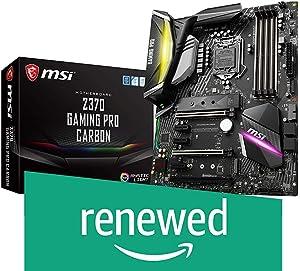 MSI Performance Gaming Intel 8th Gen LGA 1151 M.2 DVI HDMI USB 3.1 Gigabit LAN SLI CFX ATX Motherboard (Z370 Gaming PRO Carbon) (Renewed)