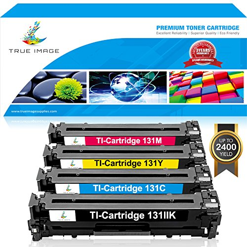 TRUE IMAGE 4 Pack Replacement for Canon Ink 131 131H Toner Cartridge 131 Canon Imageclass LBP7110Cw Toner MF8280Cw MF624Cw MF628Cw 628Cw MF8280 Color Laser Printer -(1 Black,1 Cyan,1 Magenta,1 Yellow)