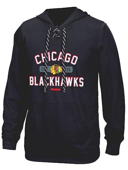 27204a05801 Chicago Blackhawks Reebok NHL Men s Highlights Pullover Hooded Sweatshirt  (Medium)