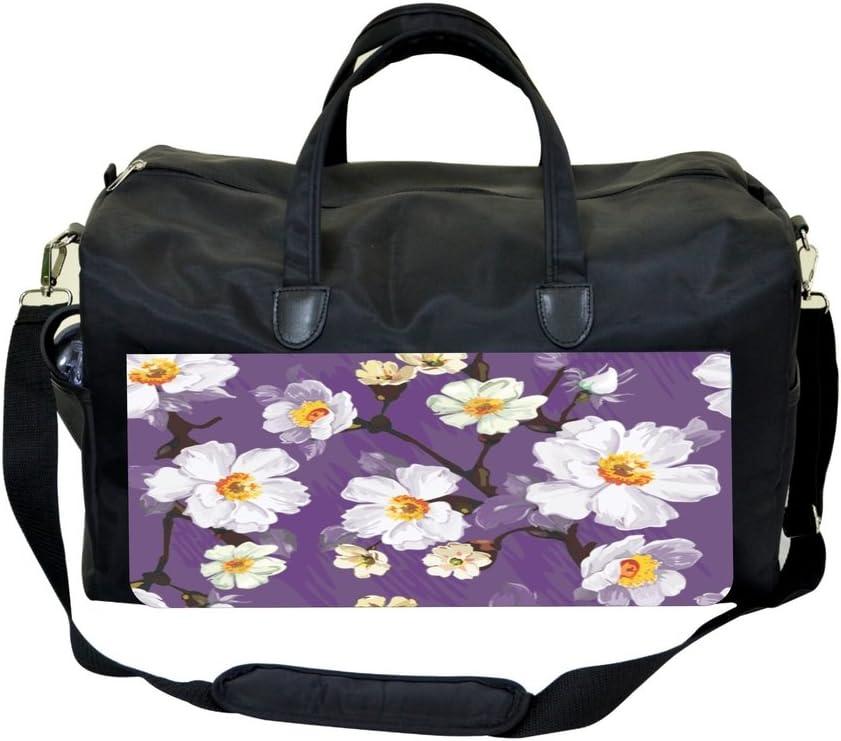 Purple Blossoms Sports Bag