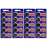 Sony CR2025 3 Volt Lithium Manganese Dioxide Batteries, Genuine Sony Blister Packaging (20 Pieces)