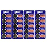 Pack of 100 Sony CR2025 3 Volt Lithium Coin Cell On Tear Strip - Bulk Pack