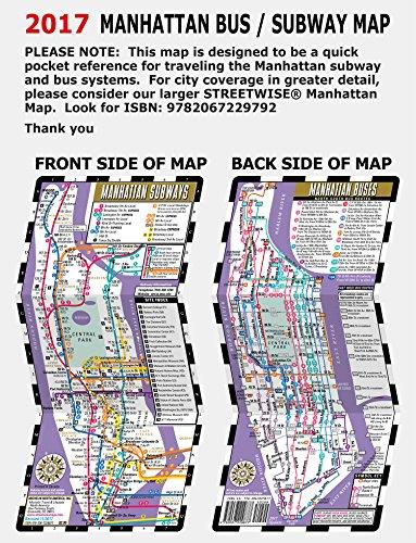 Subway Map Manhatten.Streetwise Manhattan Bus Subway Map Laminated Subway Bus Map Of Manhattan New York Michelin Streetwise Maps