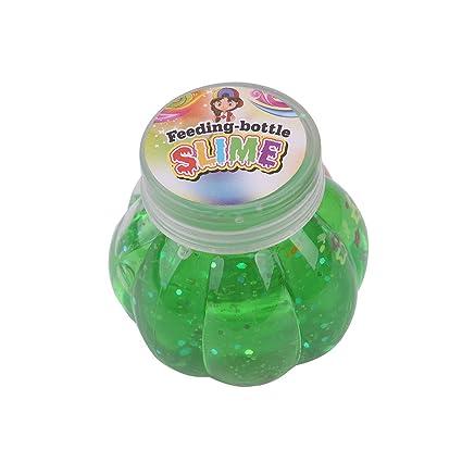 Loving Home Medium Pumpkin Bottle Slime Pearl Powder Pearl Crystal Clay Ramen Rice Pellets Crystal Clay (Green)