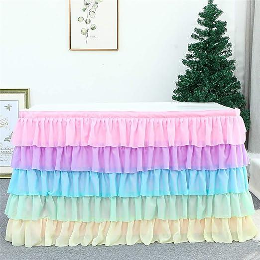 LucaSng - Falda de Tul, Multicolor, de Gasa, Degradado, Arco Iris ...