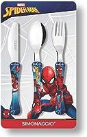 Jogo de Talheres Infantil Marvel Kids Homem Aranha, Simonaggio, Multicor, Pacote de 3