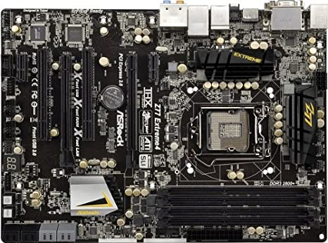 AsRock Z77 Extreme4 Motherboard (Socket 1155, Intel Z77, Up to 32GB DDR3,  ATX, 2 x SATA3 6 0 Gb/s, Supports NVIDIA SLI and AMD CrossFireX, Premium