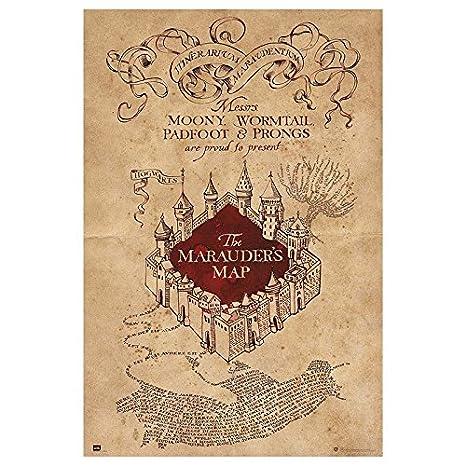 Amazon.com: Grupo Erik Harry Potter - The Marauders Map Poster ...
