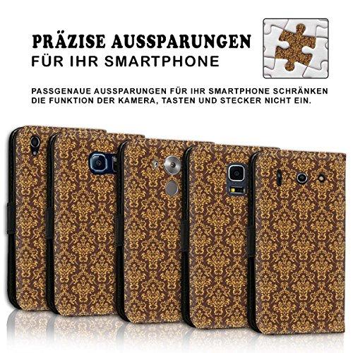 Wallet Book Style Flip Handy Tasche Case Schutz Hülle Schale Motiv Etui für Apple iPhone 4 / 4S - Design Flip MV299