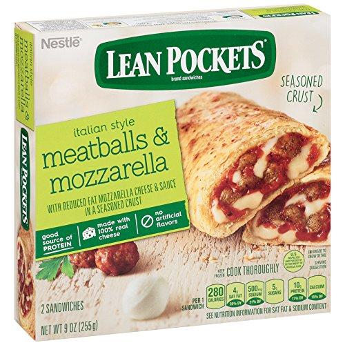 Lean Pockets, Meatballs & Mozzarella, 2 sandwiches, 9 oz (Frozen)