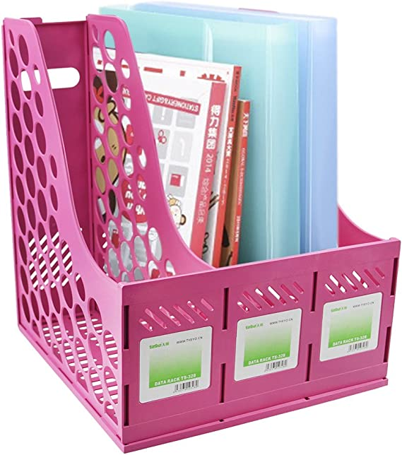 FPigSHS 3 Floor File Holder Rack Shelves A4 Data Frame Storage Box Magazine Rack Finishing Rack 4 Drawers Bookshelf Wood Office Study Color : A