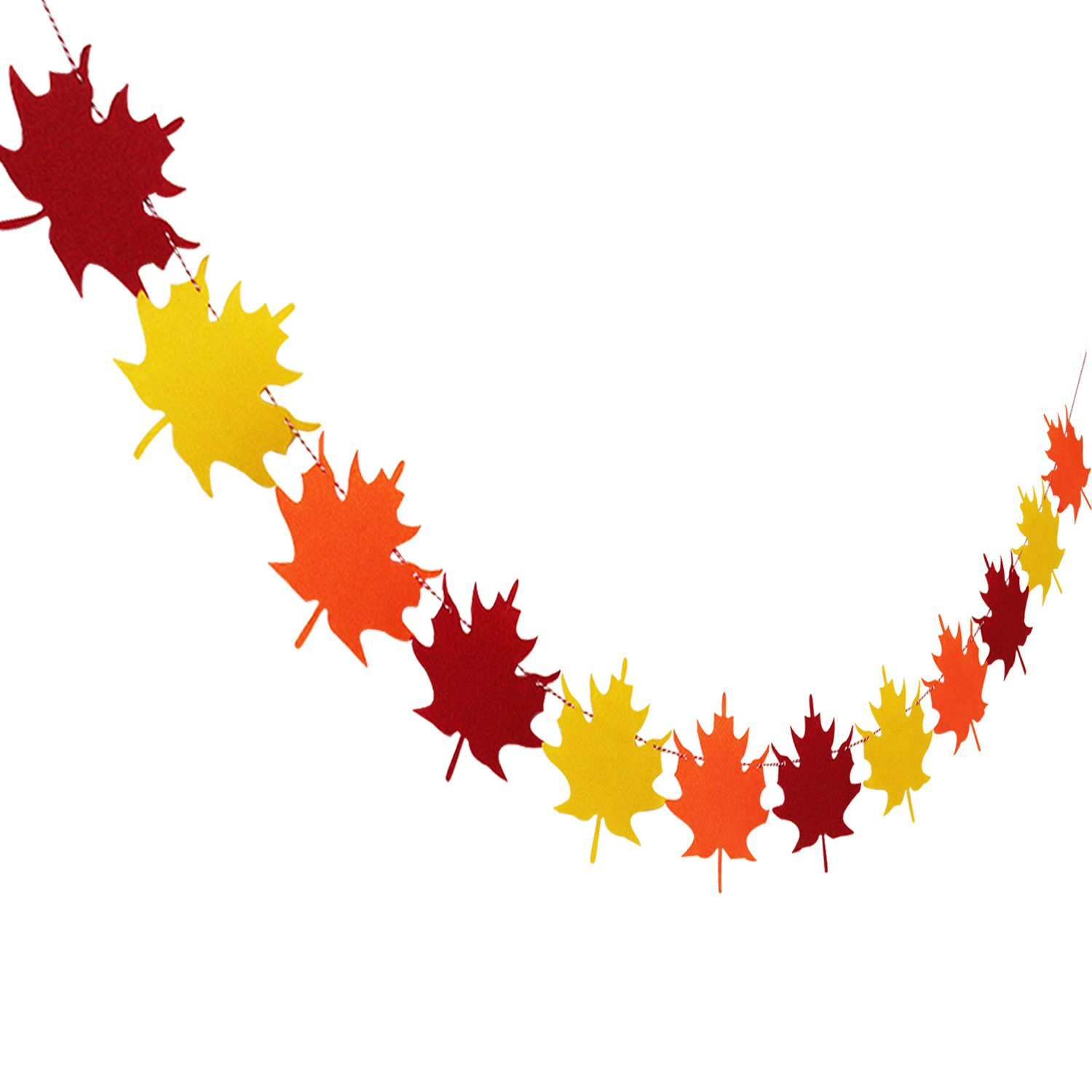 NO DIY Felt Maple Leaves Garland Banner Fall Decor Thanksgiving Party Supplies Partyprops Thanksgiving Day Decorations Thanksgiving Decor