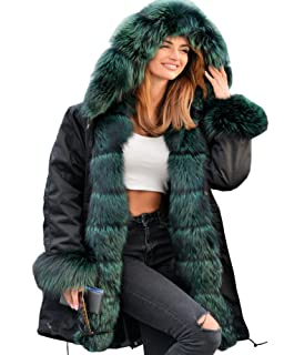 727accaf3684 Roiii Women Winter Hoodies Overcoat Faux Fur Thicken Parka Casual ...