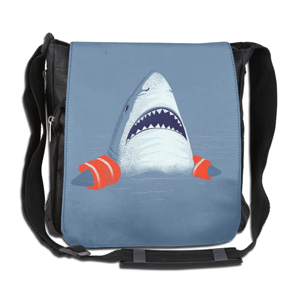 Sharks Wear Life Jackets Unisex Polyester Fiber Messenger Bag Cross-Body Bag Daypack Bag by RESS TGR
