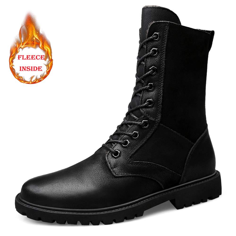 BND-schuhe , Männer Mitte der der der Wade Stiefel Lässige Outdoor wasserdicht Winddicht Armee Stiefel (warme Samt optional) dauerhaft; Standverschleiß (Farbe   Warm schwarz, Größe   45 EU) e30f9a
