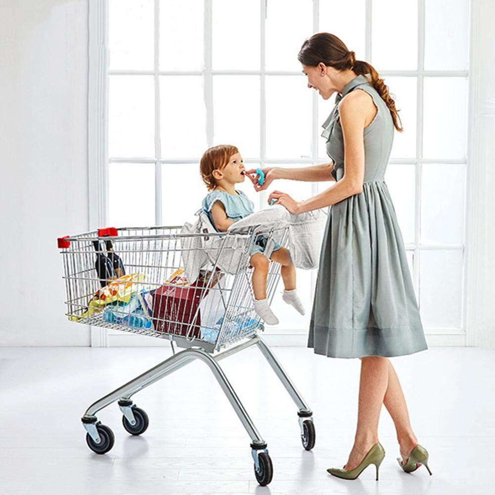 Sac de Transport R/églable B/éb/é Supermarch/é Shopping Trolley Prot/ège Si/ège Housse Protection Caddie Enfant pour Plus dhygi/ène et de s/écurit/&eacut awhao Prot/ège Chariot pour b/éb/é