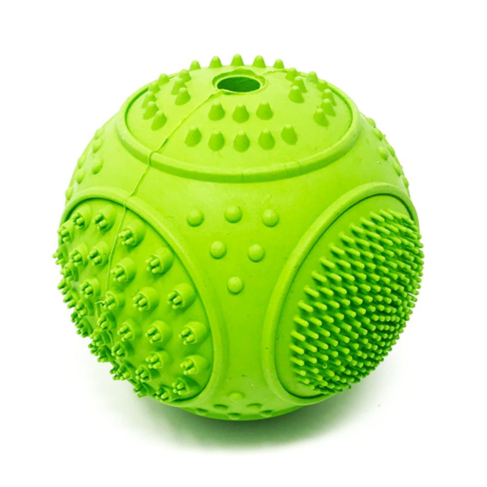 Petpany p3 Dog Toys Soft Rubber Durable Ball for Chewing and Teeth Cleaning (2.95 inch)