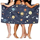 Doormat bikini Solar System Adult Soft Microfiber Printed Beach Towel For Swimming,surf,Gym,spa 80cmx130cm/31x51 in,highly Absorbent