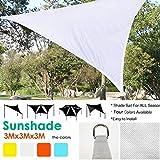 Ruier-hui 9.849.849.84 ft Triangle UV Block Sun Shade Sail Perfect for Outdoor Patio Garden 4 Colors (White)