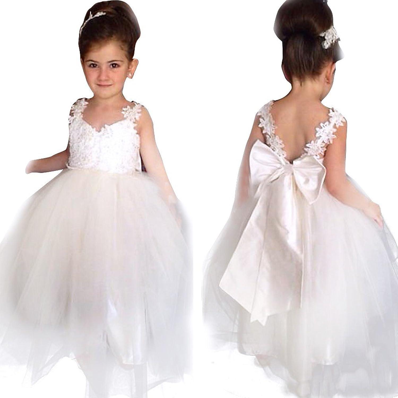 YiZYiF YiZYiF Kinder Mädchen Kleider Festlich Kleid Blumenmädchen ...