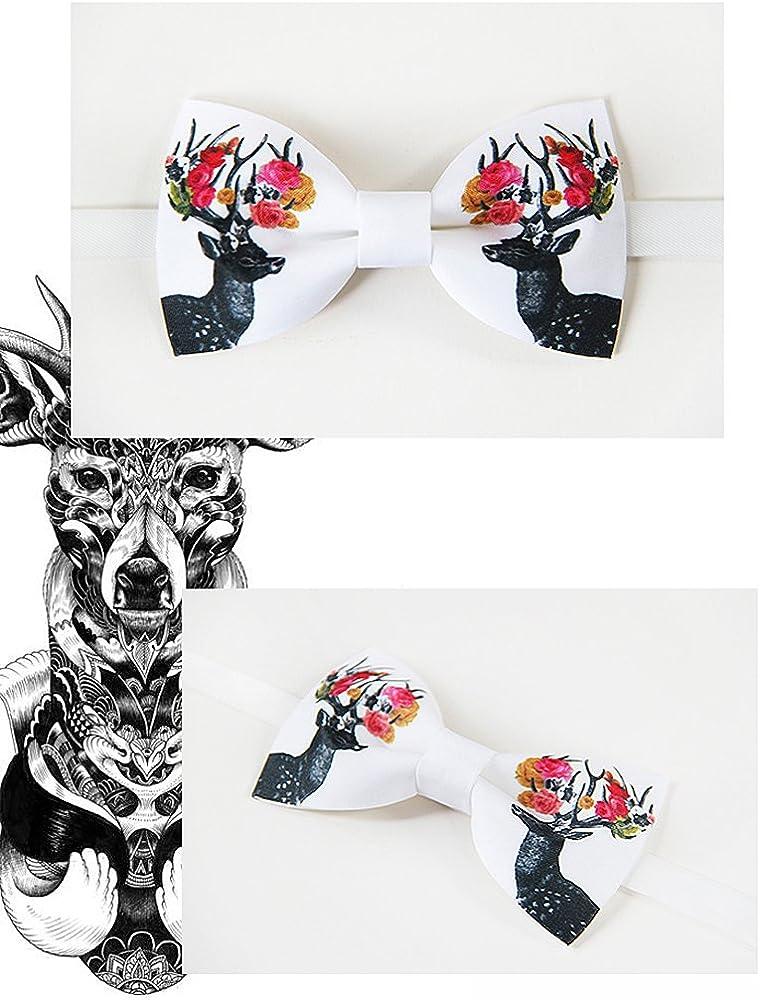 alces hechos a mano pajarita, pajarita blanca, corbata mariposa ...