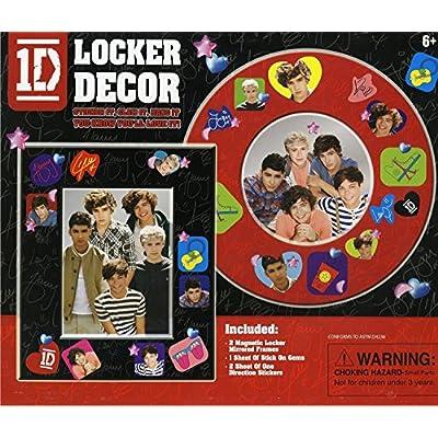1D - One Direction - Locker Decor Kit - 2 Magnetic Locker Mirrored Frames: Toys & Games