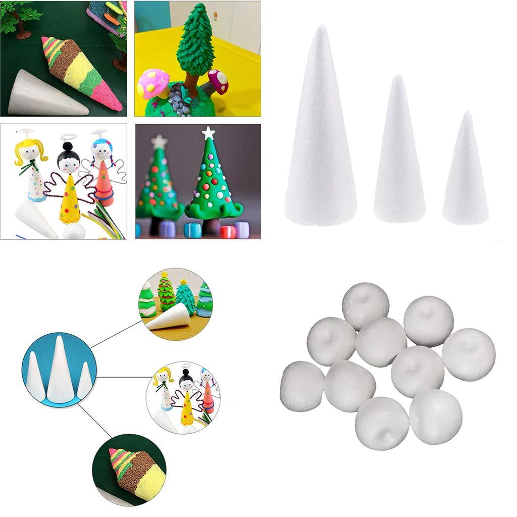 1 cono 20 cm in polistirolo da decorare Natale patchwork decoupage avvento