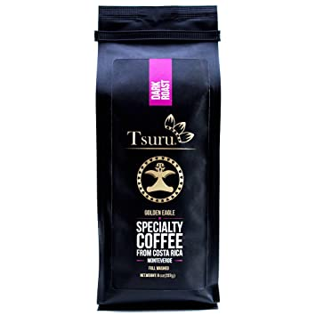 Tsuru Specialty Coffee Golden Eagle from Monteverde, Costa Rica Dark Roast Ground, Sugar free