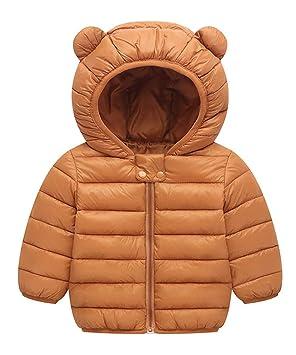 f66e33a20007f YUEGUANG 子供服 ダウンジャケット 軽薄タイプ 防寒 保温 耳フード 男女兼用 ベビー服 ダウンコート