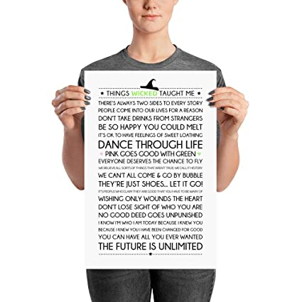 Amazon.com: Things Wicked Taught Me Poster - Base On Wicked ...
