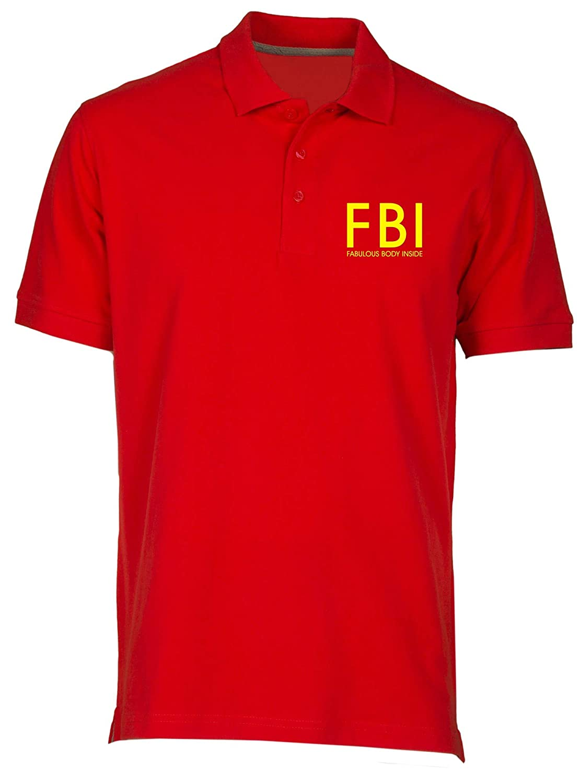 Polo por Hombre Rojo FUN2725 FBI Fab Body Inside: Amazon.es: Ropa ...