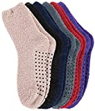 Adult Men's Thick Warm Indoor Anti-skid Winter Slipper Socks 6 Pairs Multicolor